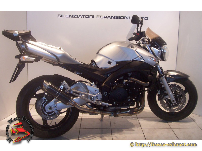 GSR600 Double rond court carbone bas