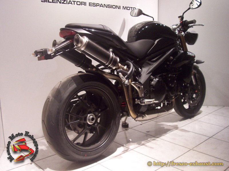 Speed Triple 11-16 Double rond court carbone