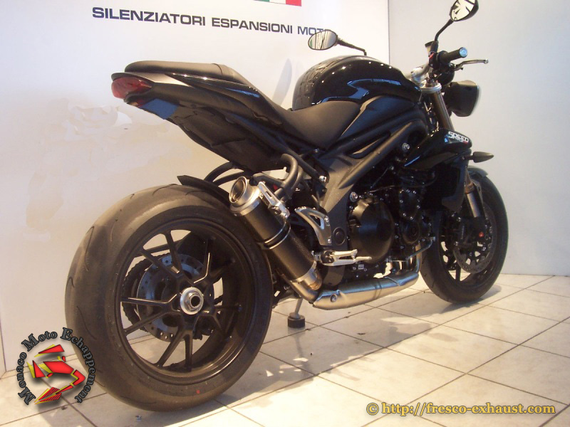 Speed Triple 11-16 Rond court carbone GP Style