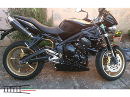 Street Triple 675 Double rond court carbone