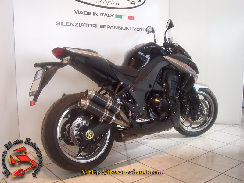 Z1000 SX 2X2 Rond court carbone